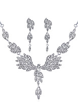 cheap -Women's Bridal Jewelry Sets Rhinestone Alloy Wings / Feather Formal Fashion Sweet Wedding Party 1 Necklace Earrings Costume Jewelry