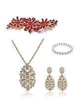 cheap -Women's Bridal Jewelry Sets Strand Bracelet Rhinestone Fashion European Wedding Party Imitation Pearl Imitation Diamond Alloy Flower Body