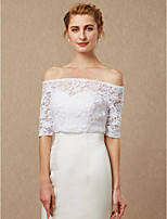 cheap -Half Sleeves Lace Wedding Party / Evening Women's Wrap With Lace Lace-up Shrugs