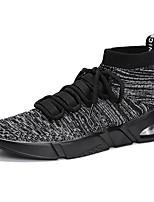 Недорогие -Муж. обувь Трикотаж Весна Лето Удобная обувь Кеды Беговая обувь для Повседневные Белый Черный Серый Красный