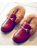 cheap -Girls' Shoes PU Spring Fall Comfort Loafers & Slip-Ons for Casual Burgundy Black