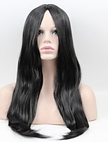 cheap -Africa the new ladies straight hair points in the bangs black long hair matte high temperature wire wigs