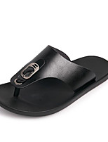 cheap -Men's Shoes Cowhide Spring Summer Comfort Slippers & Flip-Flops for Casual Black