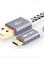 Недорогие -CE-Link USB 2.0 Кабель, USB 2.0 to Micro USB 2.0 Кабель Male - Female 2.0m (6.5Ft)