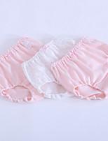cheap -Girls' Cartoon Spring Underwear, Cotton Stretchy Simple Blue Blushing Pink Lavender