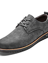 cheap -Men's Shoes PU Spring Fall Comfort Athletic Shoes Oxfords for Outdoor Gray Black