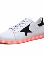 cheap -Women's Unisex Shoes PU Spring Fall Comfort Sneakers Low Heel for Casual White