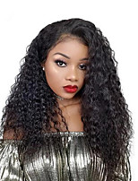 cheap -Lace Front Kinky Curly Wig Brazilian Virgin  Hair  With Baby Hair Glueless Lace Wigs For Black Women