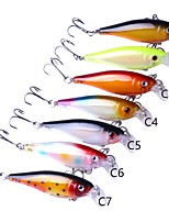 cheap -7 pcs Fishing Lures Hard Bait g/Ounce mm/5-3/8 inchPlastic Sea Fishing Trolling & Boat Fishing General Fishing