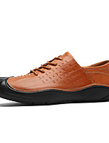 cheap -Men's Shoes Leather All Seasons Comfort Oxfords for Casual Office & Career Black Brown