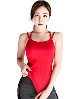 cheap -Women's Running Tank Sleeveless Breathability Tank for Running/Jogging Polyester Red L M S