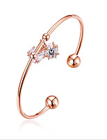 cheap -Women's Cuff Bracelet Cubic Zirconia Rhinestone Rose Gold Gold Plated Alloy Jewelry Wedding Daily Costume Jewelry Silver Rose Gold