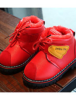 cheap -Girls' Shoes Leatherette Winter Fall Comfort Snow Boots Boots for Casual Red Yellow Black