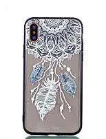 cheap -Case For Apple iPhone X iPhone 8 Plus Transparent Pattern Back Cover Dream Catcher Hard Acrylic for iPhone X iPhone 8 Plus iPhone 8