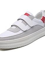 Недорогие -Муж. обувь Полиуретан Осень Удобная обувь Кеды для Повседневные Розовый и белый Черно-белый Wit En Groen