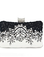 cheap -Women Bags PU Evening Bag Crystal Detailing Pearl Detailing for Wedding Event/Party All Season Black
