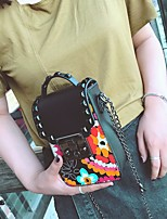 cheap -Women's Bags PU Shoulder Bag Pocket for Casual Summer White Black Red Black/White