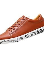 Недорогие -обувь Искусственное волокно Весна Осень Удобная обувь Кеды для Повседневные Белый Черный Коричневый