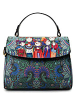 cheap -Women's Bags PU Tote Buttons Pattern / Print for Casual All Seasons Green