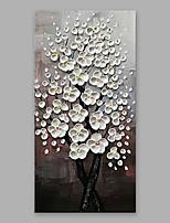 Недорогие -Ручная роспись Цветочные мотивы/ботанический Вертикальная, Modern Hang-роспись маслом Украшение дома 1 панель