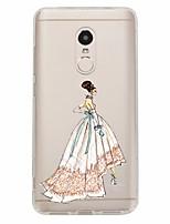 Недорогие -Кейс для Назначение Xiaomi Redmi Note 4X Redmi Note 4 С узором Задняя крышка Соблазнительная девушка Мягкий TPU для Xiaomi Redmi Note 4X