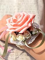 """abordables -Fleurs de mariage Petit bouquet de fleurs au poignet Mariage Gros-grain 3.15""""(Env.8cm) 10cm"""