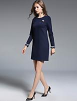 cheap -Women's Flare Sleeve Shift Dress - Solid, Beaded Flower