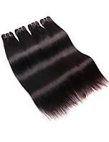 Недорогие -Бразильские волосы Прямой силуэт Ткет человеческих волос 4шт 0.2