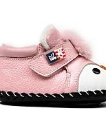 Недорогие -Дети обувь Кожа Весна Осень Удобная обувь Обувь для малышей На плокой подошве для Повседневные Лиловый Красный Розовый