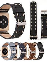 Недорогие -Ремешок для часов для Apple Watch Series 3 / 2 / 1 Apple Повязка на запястье Классическая застежка Натуральная кожа
