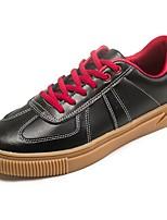 preiswerte -Herren Schuhe Tüll PU Frühling Herbst Komfort Sneakers für Normal Weiß Schwarz