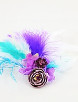 cheap -Wedding Flowers Boutonnieres Headdress Artificial Flower Brooches & Pins Wedding Event/Party Ostrich Fur Fabrics Feathers 1 Inch