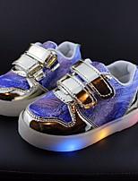 Недорогие -Девочки Мальчики обувь Полиуретан Весна Осень Удобная обувь Кеды для Повседневные Золотой Серебряный Розовый