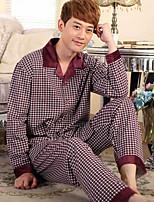 abordables -Costumes Pyjamas Homme,Fleur Moyen Polyester Bleu Rouge