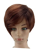 cheap -Synthetic Hair Wigs Straight Layered Haircut Natural Wigs Short Light Brown