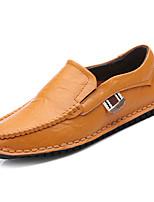 Недорогие -обувь Полиуретан Весна Осень Удобная обувь Мокасины и Свитер для на открытом воздухе Белый Черный Желтый Синий
