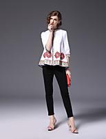 cheap -FRMZ Women's Daily Cute Active Spring Fall Shirt Stand  Length Sleeve Cotton