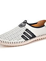 Недорогие -Муж. обувь Полиуретан Весна Осень Удобная обувь Мокасины и Свитер для Повседневные Белый Желтый Синий