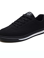 cheap -Men's Shoes PU Nubuck leather Spring Fall Comfort Sneakers for Casual Black Gray Black/White