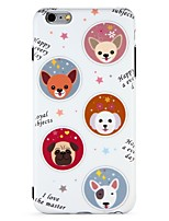 abordables -Coque Pour Apple iPhone 7 iPhone 6 IMD Motif Coque Arrière Animal Bande dessinée Flexible TPU pour iPhone 7 Plus iPhone 7 iPhone 6s Plus