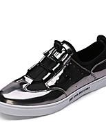 preiswerte -Schuhe maßgeschneiderte Werkstoffe Frühling Sommer Komfort Sneakers für Normal Draussen Gold Silber Dunkelgrau