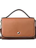 cheap -Women Bags PU Shoulder Bag Buttons for Casual All Season Brown