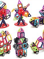 preiswerte -Magnetische Bauklötze Spielzeuge Auto Fahrzeuge Transformierbar Weicher Kunststoff 95 Stücke