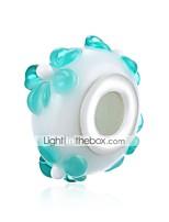 Недорогие -Ювелирные изделия DIY 1 штук Бусины Синий Шарообразные Стекло Серебристый Шарик 1.6 см DIY Браслеты Ожерелье