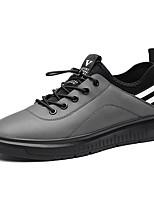 economico -Per uomo Scarpe PU sintetico PU (Poliuretano) Pelle Di pelle Primavera Comoda Sneakers Footing Ciclismo per Casual All'aperto Nero Grigio