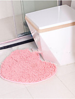 cheap -Casual Bath Mats Polyester Solid Heart Shaped