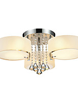 cheap -Modern Crystal Ceiling Lamp 3 Light Flush Mount lights Chrome Finish Chandelier Bedroom Living Room Restaurant