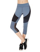cheap -Women's Running Cropped Pants Fast Dry Tights Running/Jogging Cotton Tight Blue Black XL L M S