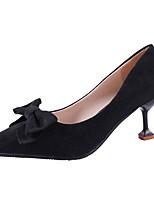 preiswerte -Damen Schuhe Wildleder PU Frühling Herbst Komfort High Heels Stöckelschuh Spitze Zehe für Normal Schwarz Khaki