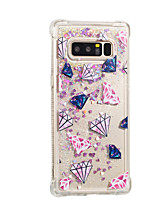 cheap -Case For Samsung Galaxy Note 8 Flowing Liquid Pattern Back Cover Tile Glitter Shine Soft TPU for Note 8